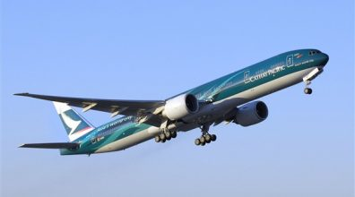 Boeing, Cathay Pacific Airways Celebrate 777-300ER Delivery