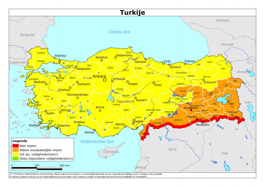 Ministerie wijzigt reisadvies turkije travmagazine for Turkse kapper amsterdam oost