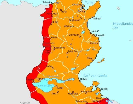 Ministerie handhaaft reisadvies Tunesië