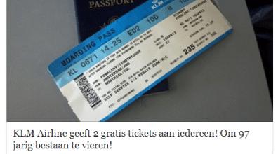 KLM Facebook hoax