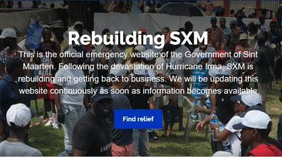 Overheid Sint Maarten lanceert 'emergency website'