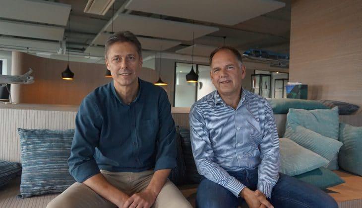 Frank Wester (l) en Jeroen Martron van Airtrade.