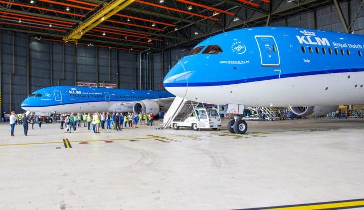 KLM verwelkomt nieuwste Dreamliner 'Tulp'
