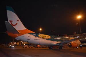 Woensdagavond landde het TUI-Sunny Cars vliegtuig op Schiphol.