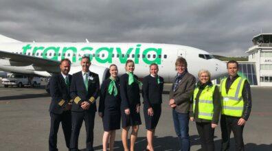 Eerste vlucht Voigt Travel en Transavia IJsland