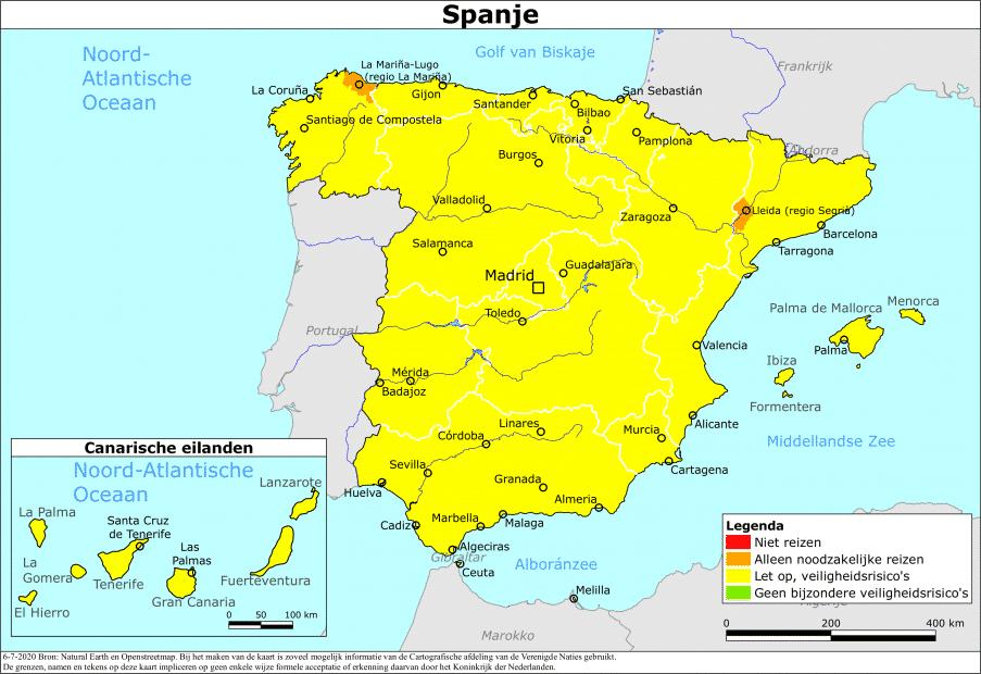 Reisadvies Twee Spaanse Regio S Aangescherpt Travmagazine