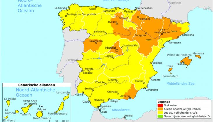 Oranje Reisadvies Voor Steeds Meer Regio S In Spanje Travmagazine